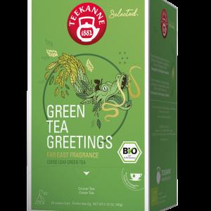 """Žalioji arbata TEEKANNE BIO Luxury Cup """"Green Tea Greetings"""" 20 vnt."""